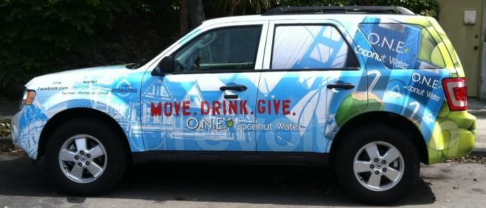 SUV Brand Wrap O.N.E. Coconut Water