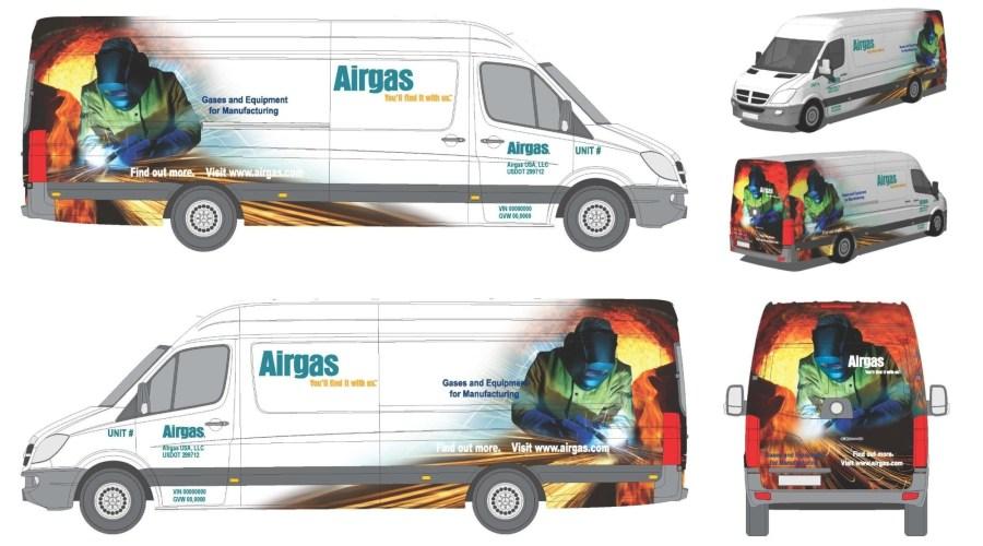 Van Wrap for Airgas USA