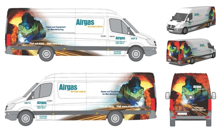 airgas van wrap