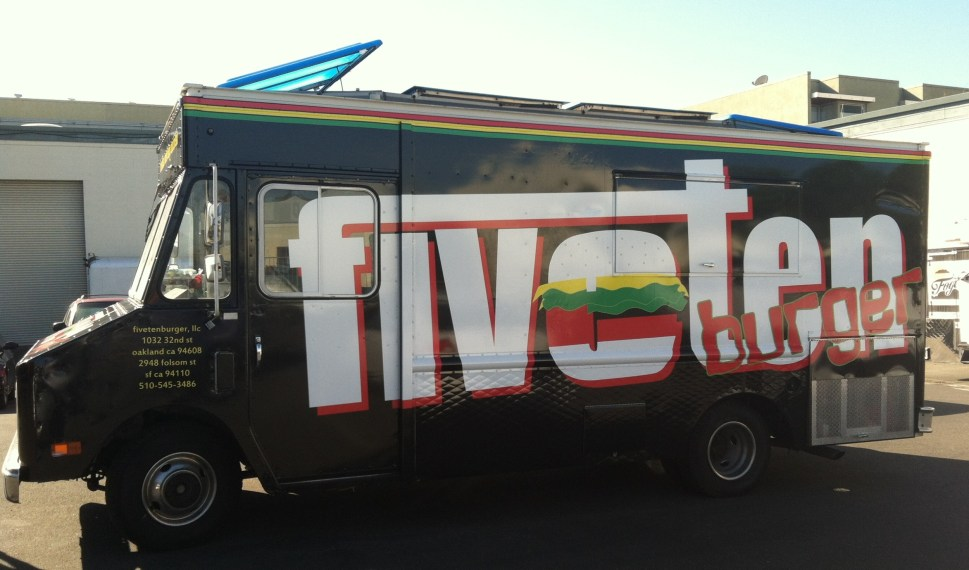 Left Profile Food Truck Wrap for FiveTen Burger