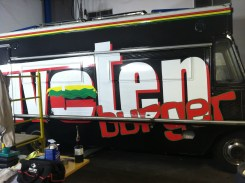 Vinyl wrapping food truck