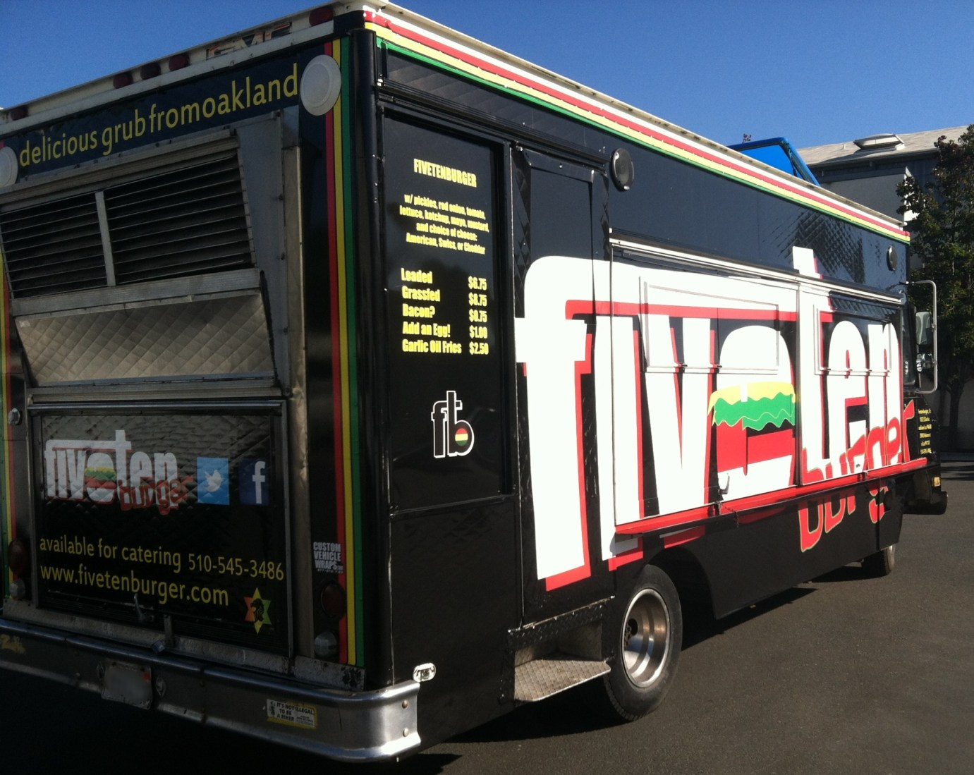 Right Side of FiveTen Food Truck