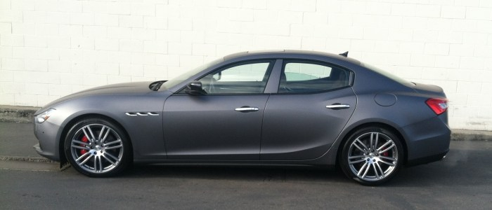 Matte Black Maserati Car Wrap