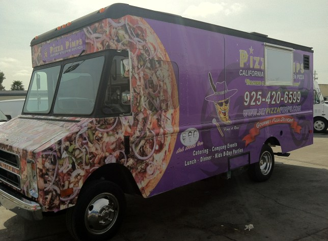 Pizza Pimps Food Truck Wrap