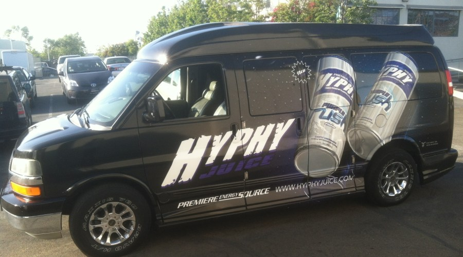 Hyphy Juice Van Wrap
