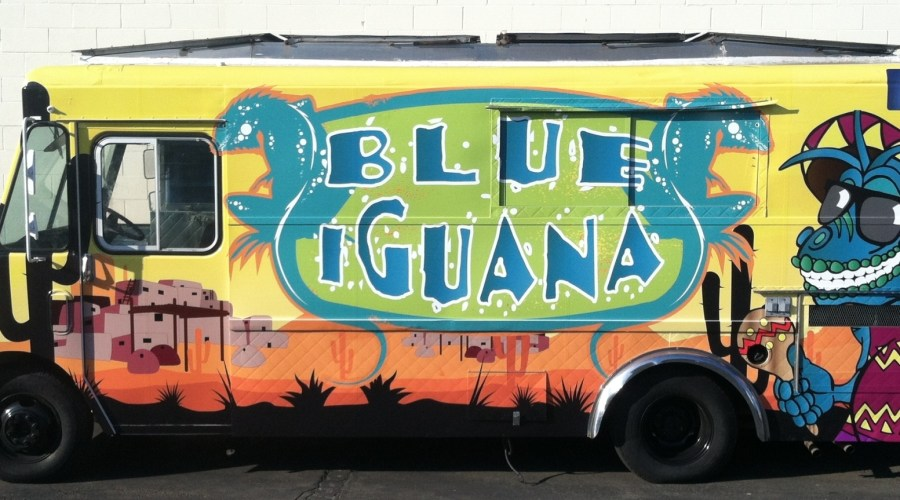 Blue Iguana Food Truck Wrap