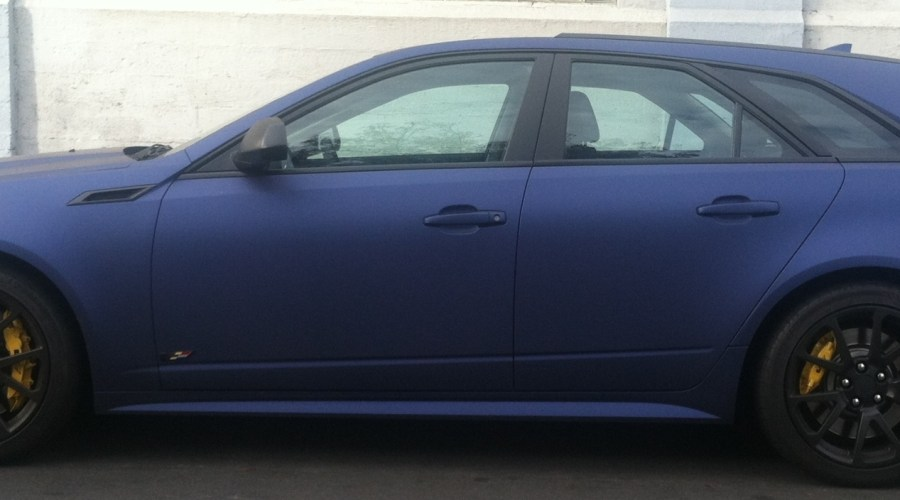 Matte Blue Wrap for Cadillac