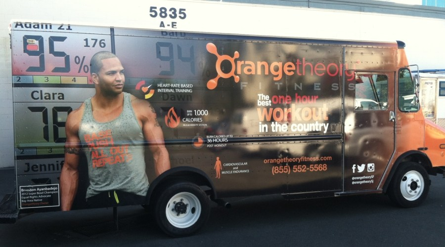 Car Wrap for Orange Theory Fitness