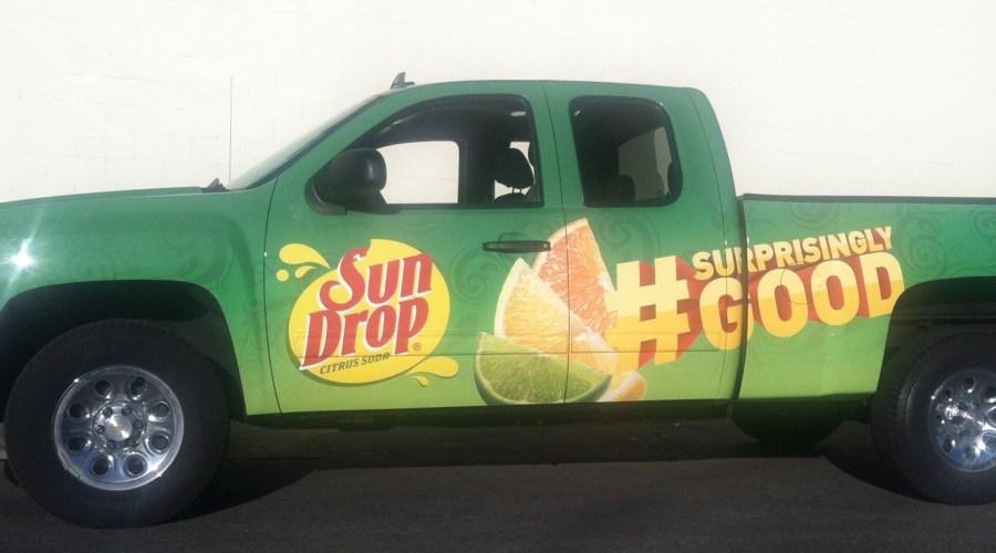 Sun Drop Truck Wrap