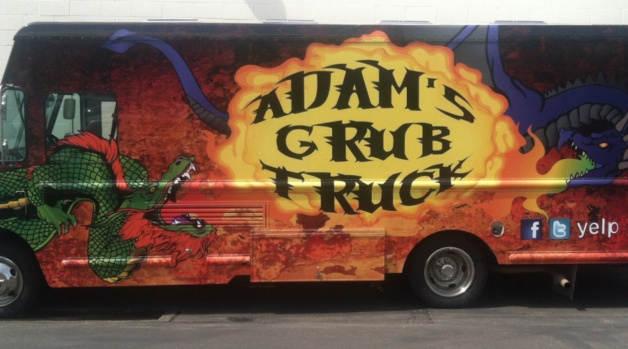 Adam's Grub Food Truck Wrap