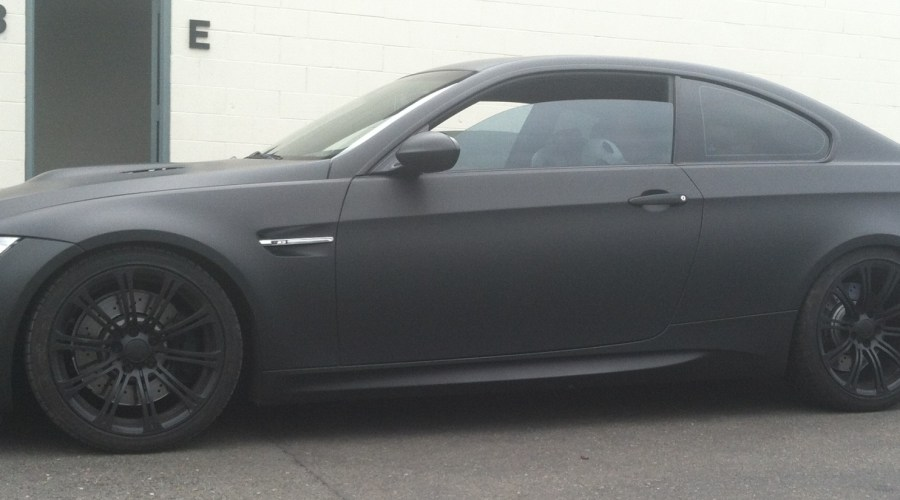 Color Change Wrap for BMW – Silver to Matte Black