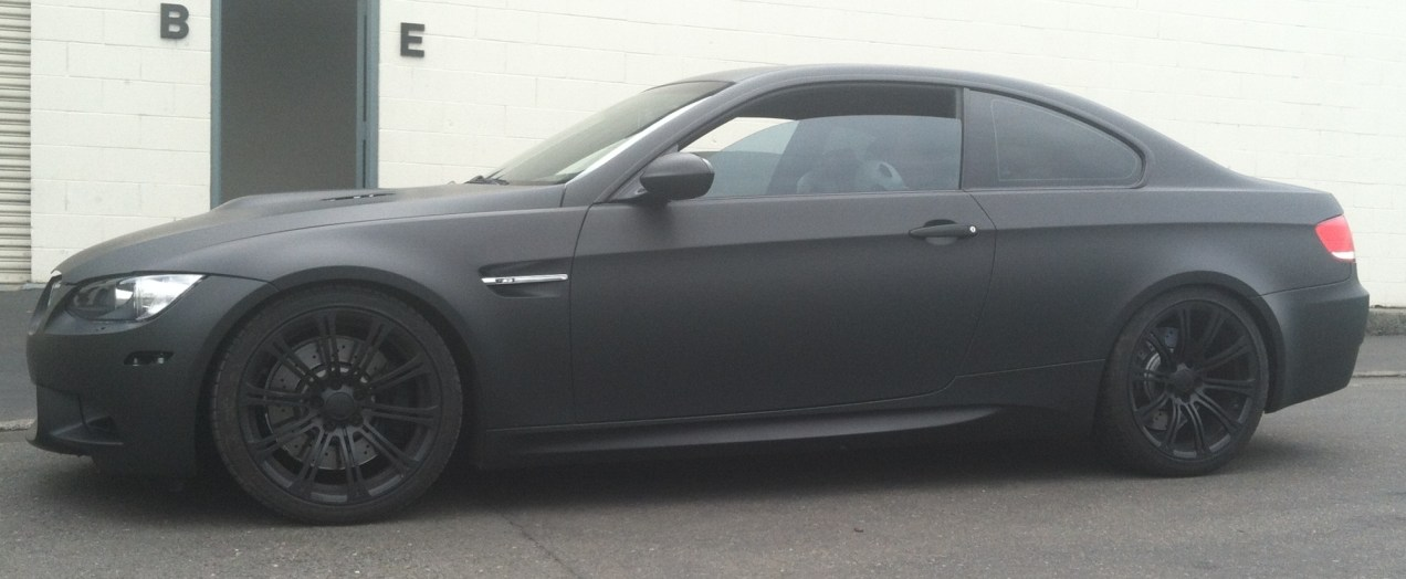 bmw color change silver to matte black-12