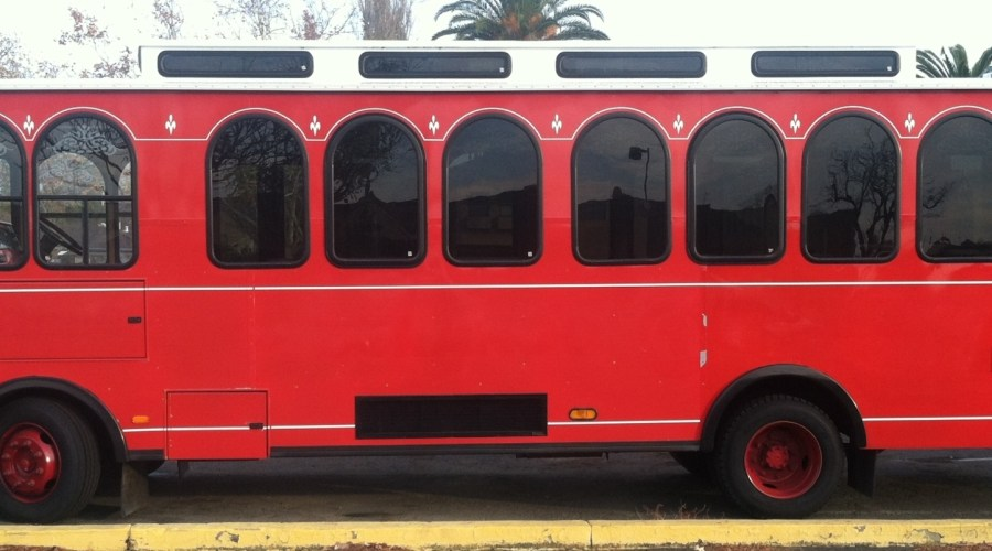 Red Bus Wrap