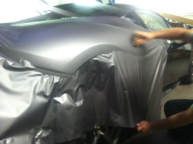 Ferrari Matte Grey Wrap-14