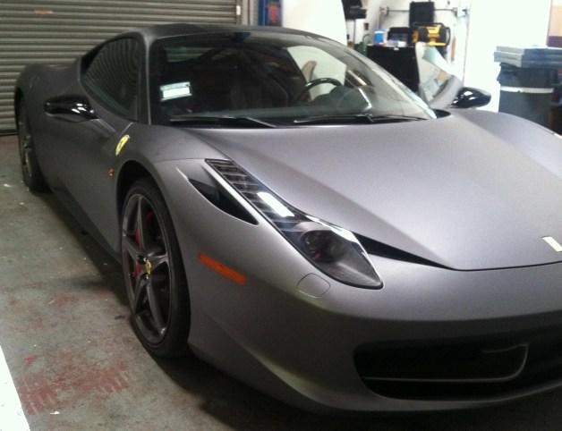 Ferrari Matte Grey Wrap-23