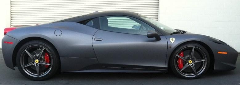 Ferrari Matte Grey Wrap-26
