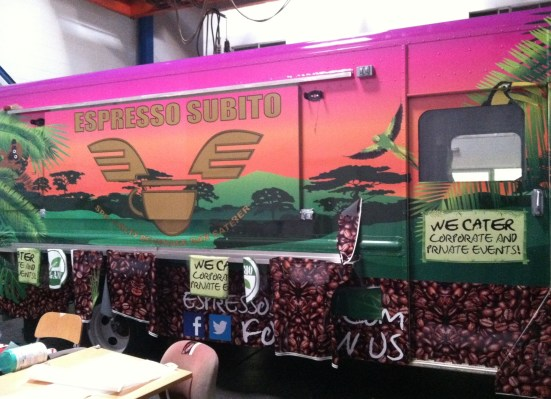 espresso subito food truck wrap