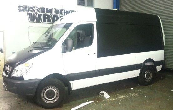 van color change wrap white to black