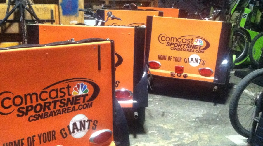 Comcast Sportsnet Cart Wraps