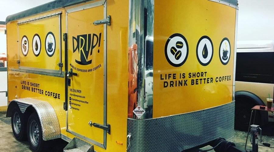 Drip Mobile Espresso Trailer Wrap