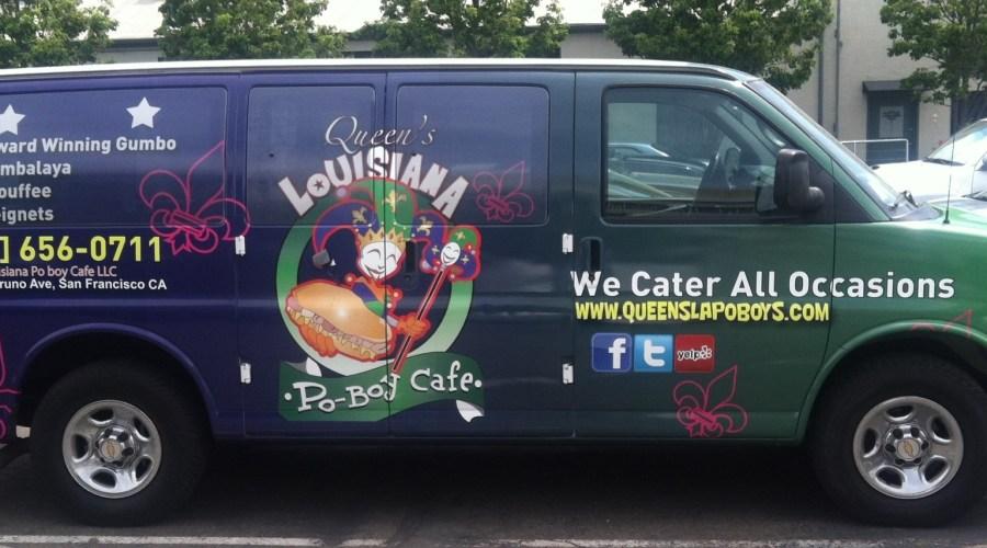 Queens Louisiana Po Boy Cafe Food Van Wrap