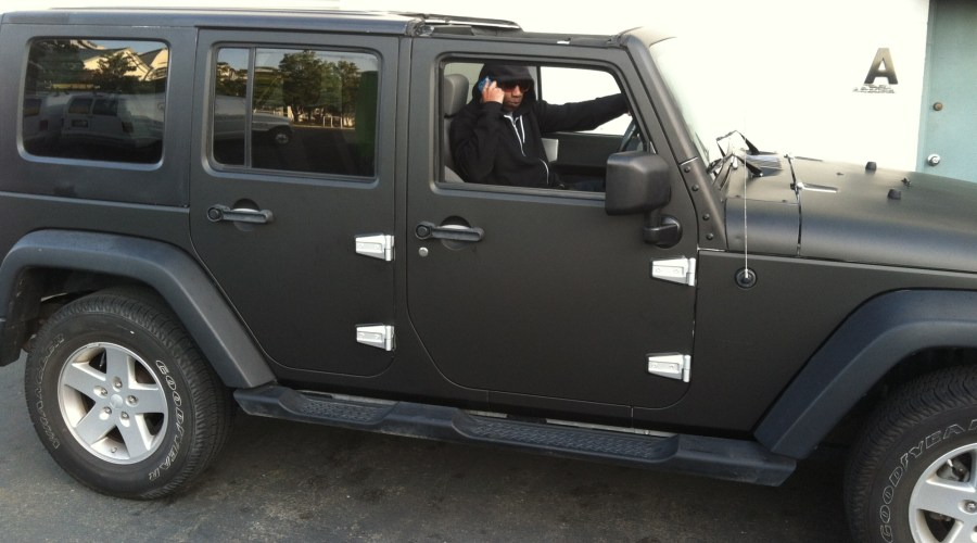 Matte Black Jeep Wrap