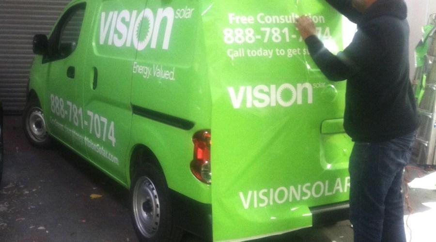 Vision Solar Car Wrap