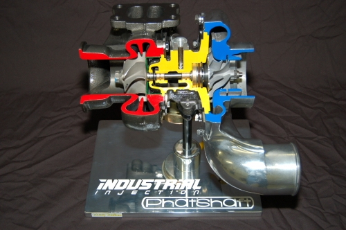 Turbo Charger Cutaway, Industrial Injection Phatshaft