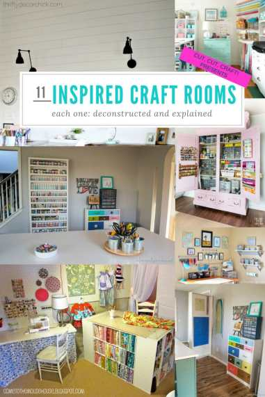 A selection of the best craft room organization ideas