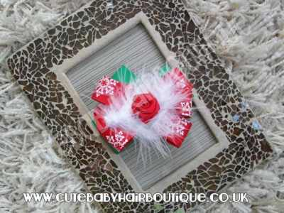 christmas snowflake hair clip