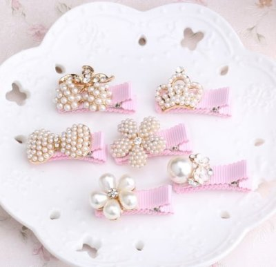 Pearl Baby Hair Clips