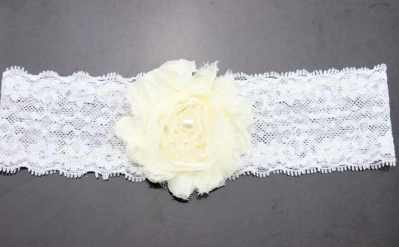 cream lace baby headband for babies