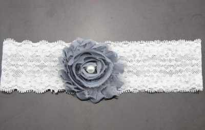 grey lace baby headband for babies
