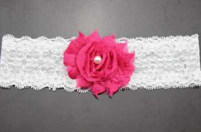 pink lace baby headband for babies