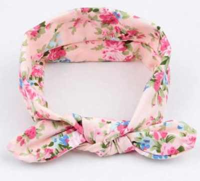 Pink Floral Baby Top Knot Headband
