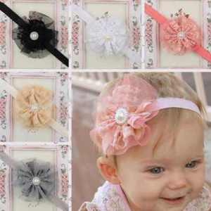 toddler headband lace flower