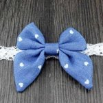 Light blue heart bow