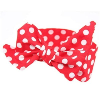 red vintage top knot headband for girls