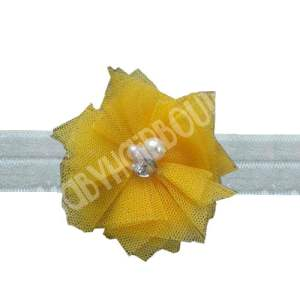 Yellow flower headband for toddlers