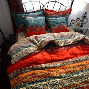 Striped Boho Bedding for Fall Time