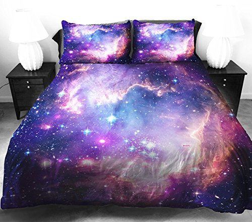 Satiny Smooth Galaxy Bedding Set