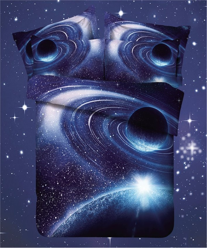 Stars and Planets Galaxy Bedding Set with Duvet Cover