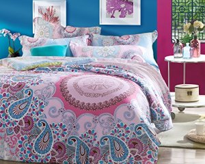 Paisley Bohemian Bedding Duvet Cover Set