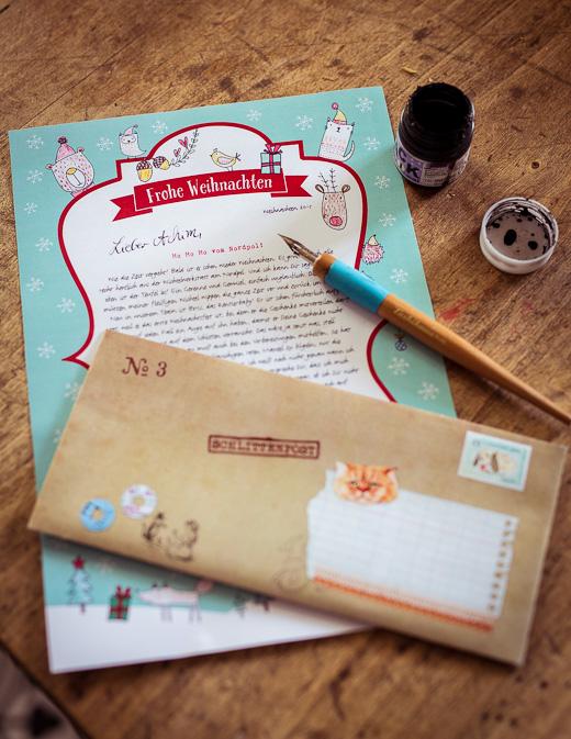 So sieht der Brief vom Weihnachtsmann dann aus.