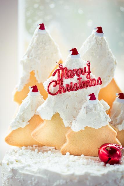 Die Weihnachtsbaum Cookies habe ich mit Sachen verziert, die ich aus USA mitgebracht habe