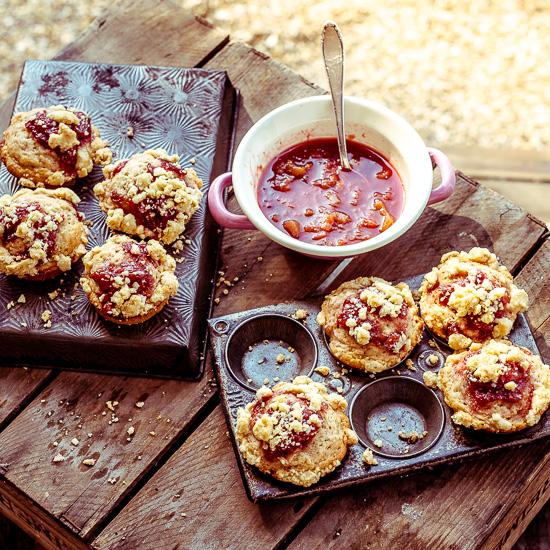 Die Vintage Muffin Formen habe ich aus dem USA Urlaub mitgebracht