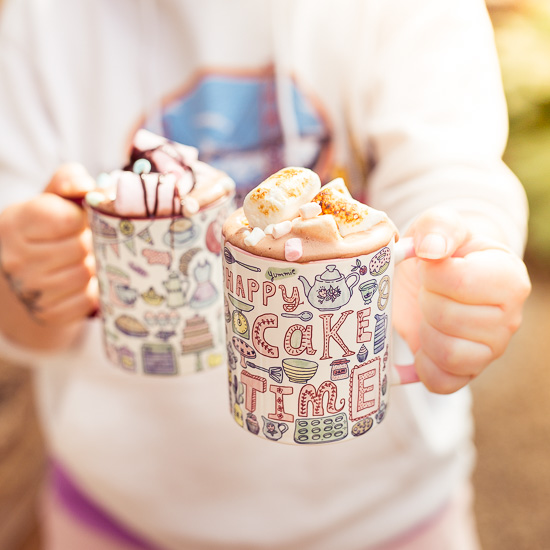 Zur Stärkung nach einem 'Läufle' gibts bei mit heute eine heiße Schoki mit Marshmallows in meinen neuen Tassen
