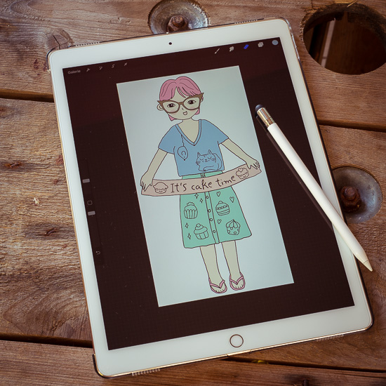 Entworfen habe ich den Patch auf meinem Tablet. Da kann ich mit dem Stift sehr genau malen und colorieren.