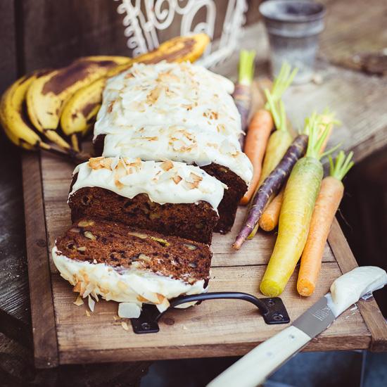 """Meine glutenfreie """"Mischung"""" aus Karottenkuchen und Bananenbrot"""