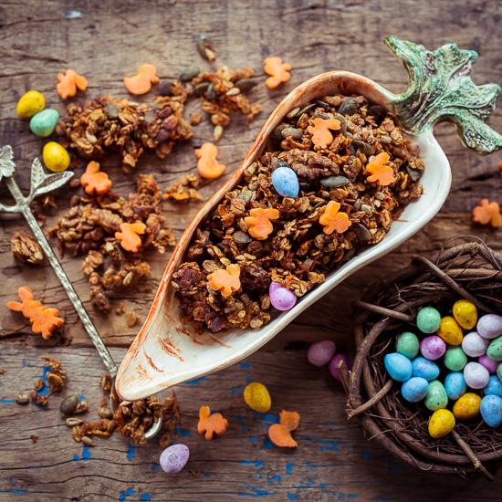 Meinen Carrot Cake aus Backen Mit Love gibt es nun auch als Frühstücks Granola